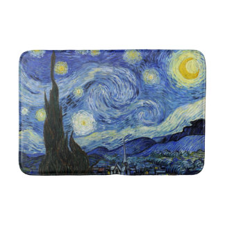 Starry Night by Vincent van Gogh Bath Mat