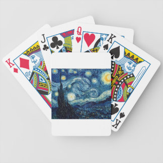 Starry Night By Vincent Van Gogh Bicycle Playing Cards