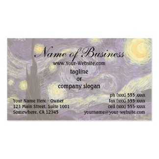 Starry Night by Vincent van Gogh Business Card Templates