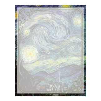 Starry Night by Vincent van Gogh. Personalized Flyer