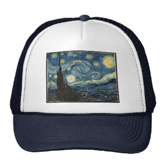 Starry Night by Vincent van Gogh Hats