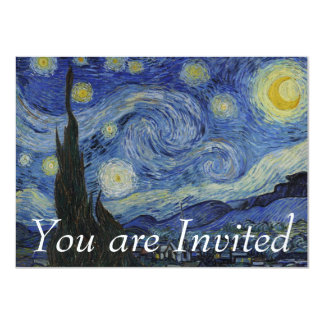 Starry Night by Vincent van Gogh Invites
