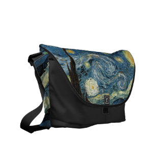 Starry Night by Vincent van Gogh Messenger Bag