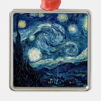 Starry Night By Vincent Van Gogh Metal Ornament