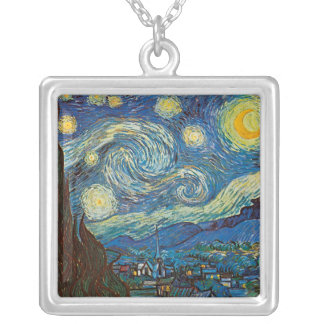 Starry Night by Vincent van Gogh Necklace
