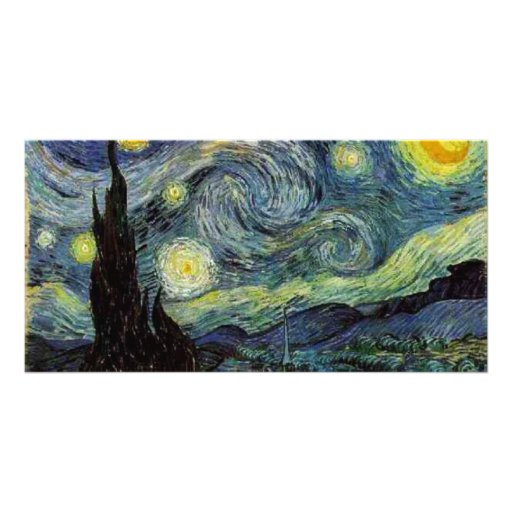 Starry Night by Vincent van Gogh. Photo Card