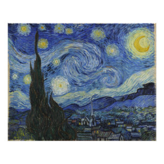 Starry Night by Vincent Van Gogh Art Photo