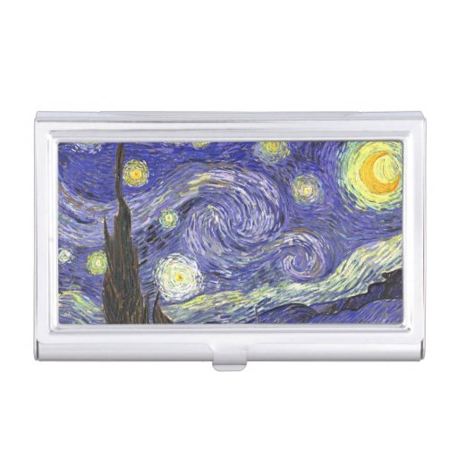 Starry Night by Vincent van Gogh Case For Business Cards