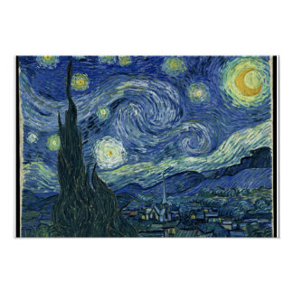 """""""Starry Night"""" by Vincent Van Gogh Poster"""