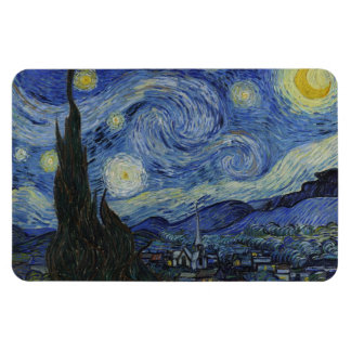 Starry Night by Vincent van Gogh Flexible Magnets