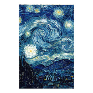 Starry Night By Vincent Van Gogh Stationery