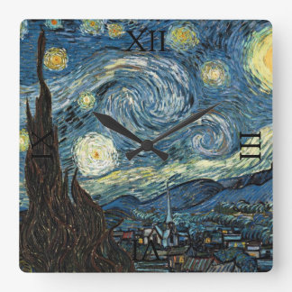 Starry Night by Vincent van Gogh Wallclock