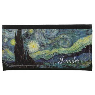 Starry Night by Vincent van Gogh. Wallet For Women