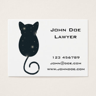 Starry Night Cat Silhouette Business Card