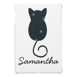 Starry Night Cat Silhouette iPad Mini Cover