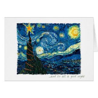 Starry Night Christmas Greeting Card