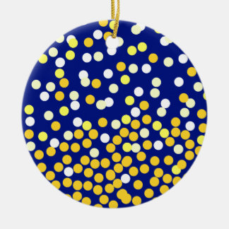 Starry NIght Double-Sided Ceramic Round Christmas Ornament