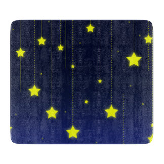 Starry Night decorative glass Cutting Board