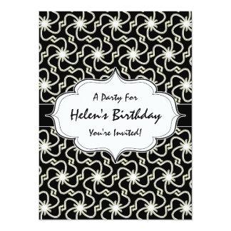 Starry Night Elegant Art Deco Starburst Pattern 14 Cm X 19 Cm Invitation Card