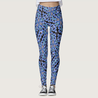 Starry Night Element Abstract Satin Leggings