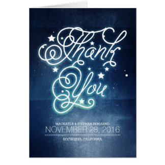 Starry Night Enchanted Wedding Thank You Card