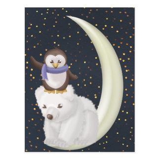 Starry Night Friends Postcard