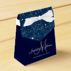 Starry Night Glitter Elegant Wedding Favour Box