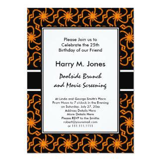 Starry Night Golden Starburst Art Deco 14 Cm X 19 Cm Invitation Card