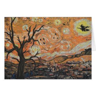 Starry Night Halloween Card