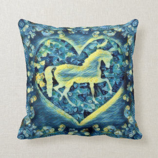 Starry Night Horse Cushion