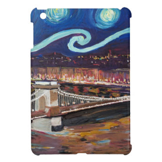 Starry Night in Budapest Hungary with Parliament iPad Mini Covers