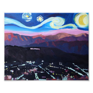 Starry night in Hollywood - Los Angeles Art Photo
