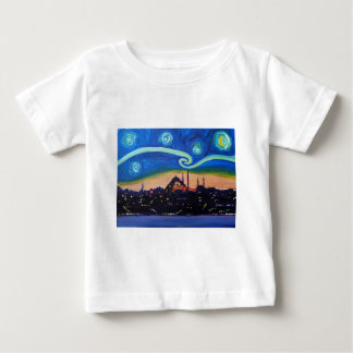 Starry Night in Istanbul Turkey Baby T-Shirt