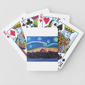 Starry Night in Istanbul Turkey Bicycle Playing Cards