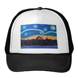 Starry Night in Istanbul Turkey Cap