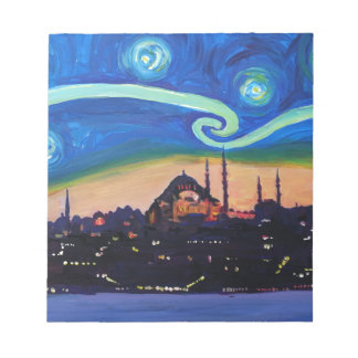 Starry Night in Istanbul Turkey Notepad