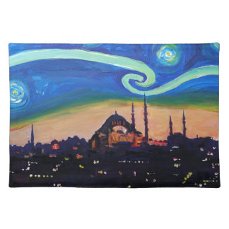 Starry Night in Istanbul Turkey Placemat