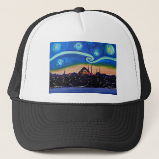 Starry Night in Istanbul Turkey Trucker Hat