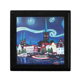 Starry Night in Luebeck Germany Gift Box