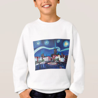 Starry Night in Luebeck Germany Sweatshirt