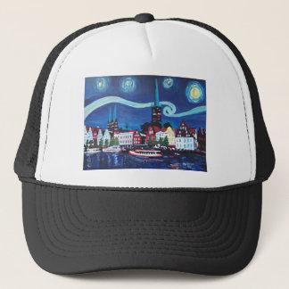 Starry Night in Luebeck Germany Trucker Hat