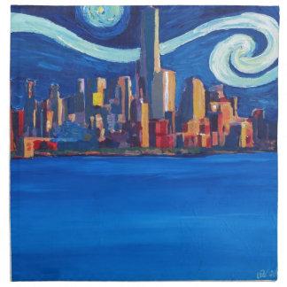Starry Night in New York City - Freedom Tower Napkin