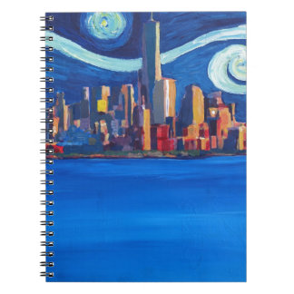 Starry Night in New York City - Freedom Tower Notebooks