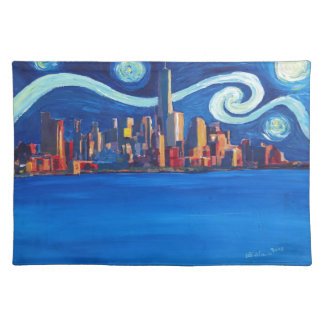 Starry Night in New York City - Freedom Tower Placemat