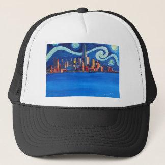 Starry Night in New York City - Freedom Tower Trucker Hat