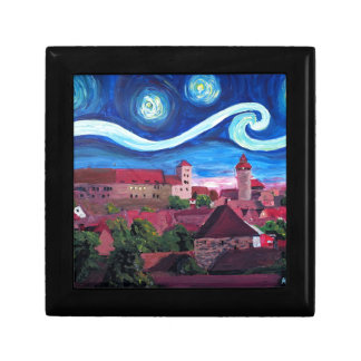 Starry Night in Nuremberg Germany with Castle Gift Box