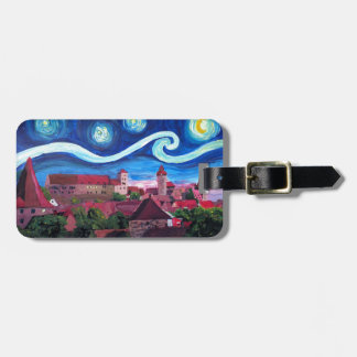 Starry Night in Nuremberg Germany with Castle Luggage Tag