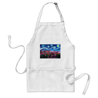 Starry Night in Nuremberg Germany with Castle Standard Apron