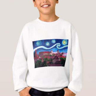 Starry Night in Nuremberg Germany with Castle Sweatshirt