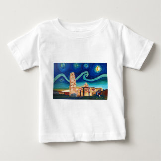 Starry Night in Pisa with Leaning Tower Baby T-Shirt